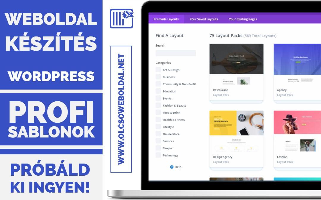 WordPress weboldal készítés sablon használatával (2018) #02